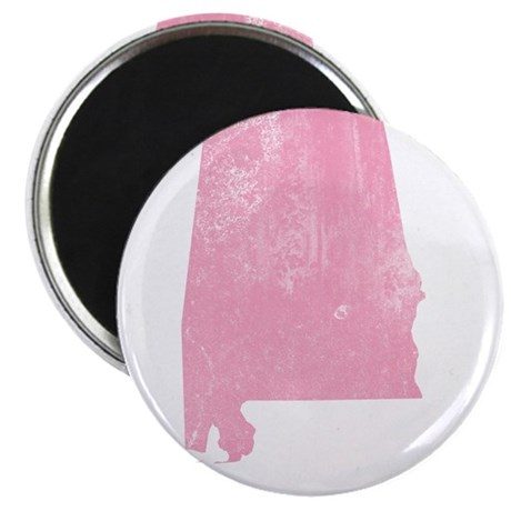 """Vintage Grunge Pink Alabama 2.25"""" Magnet (10 pack)"""