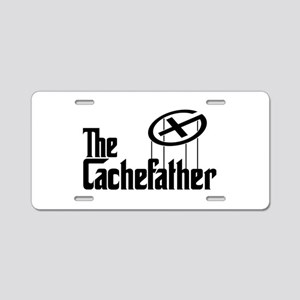 Geocaching THE CACHEFATHER black Aluminum License