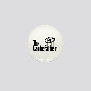 Geocaching THE CACHEFATHER black Mini Button