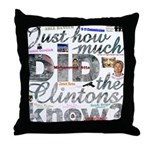 Clinton Conspiracy Throw Pillow