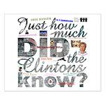 Clinton Conspiracy Small Poster
