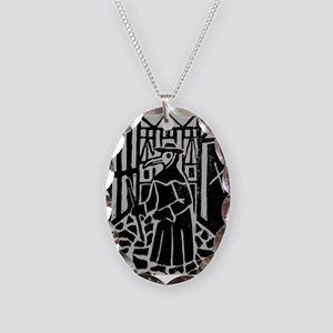 The Plague Doctor Necklace Oval Charm