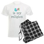 Art is My Religion Men's Light Pajamas
