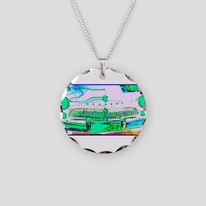 Mercury, Retro, Car, Necklace Circle Charm