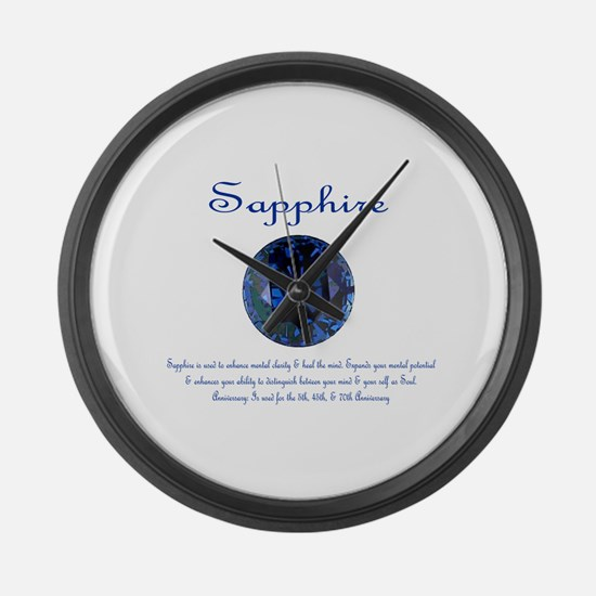 """Sapphire Image & Meaning"""" Large Wall Clock"""