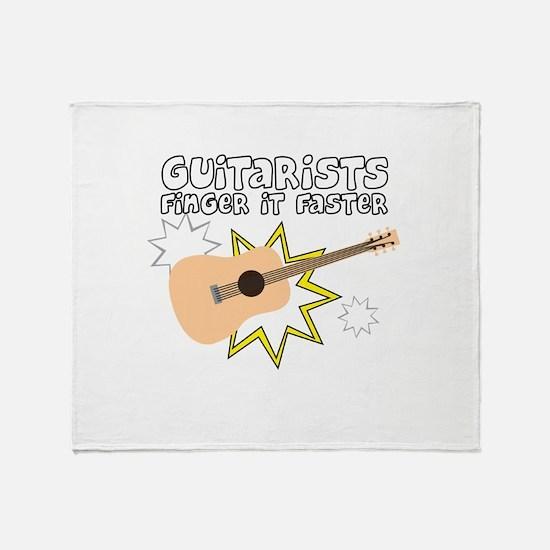 Guitarists finger it... Throw Blanket