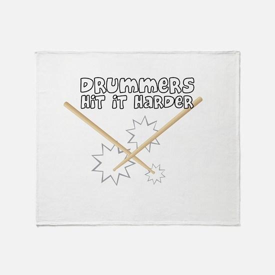 Drummers hit it... Throw Blanket