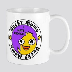 Ducky Momo Hates People! Mugs