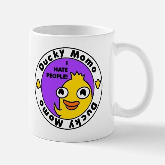 Ducky Momo Hates People! Mugs