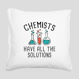 Chemists Square Canvas Pillow
