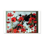 Audrey in Poppies 22x14 Wall Peel