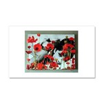 Audrey in Poppies Car Magnet 12 x 20