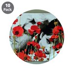 """Audrey in Poppies 3.5"""" Button (10 pack)"""
