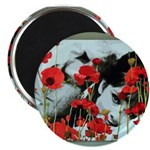 """Audrey in Poppies 2.25"""" Magnet (100 pack)"""