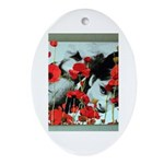 Audrey in Poppies Ornament (Oval)