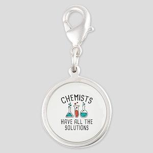 Chemists Silver Round Charm