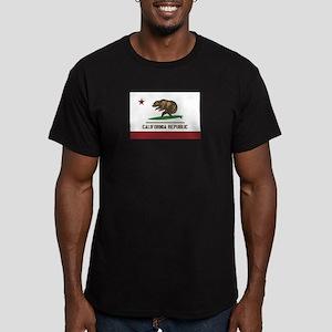 California Surfing Bear Flag Men's Fitted T-Shirt