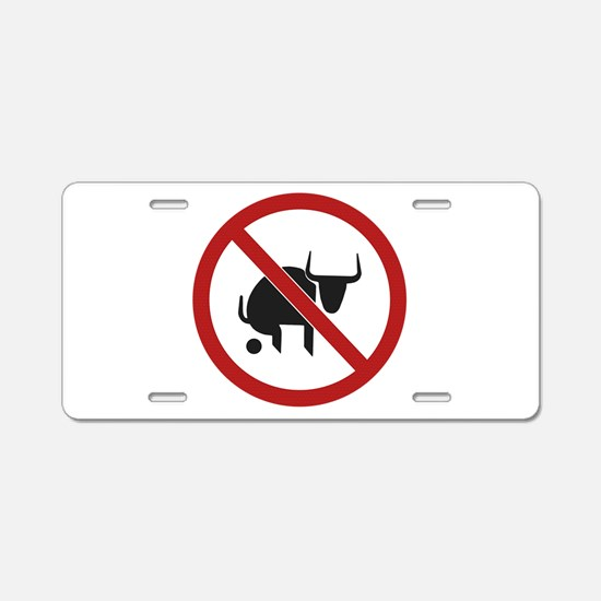 No Bull Aluminum License Plate
