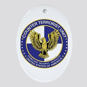 Terrorism CTU Seal Oval Ornament