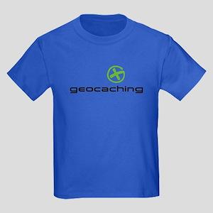 Geocaching Logo green Kids Dark T-Shirt