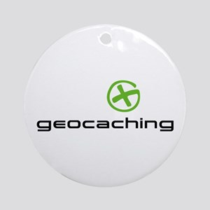 Geocaching Logo green Ornament (Round)