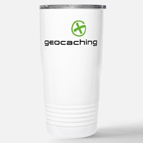 Geocaching Logo green Stainless Steel Travel Mug