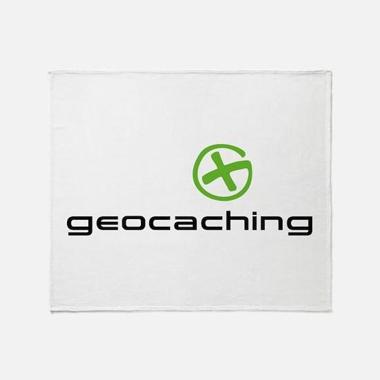 Geocaching Logo green Throw Blanket