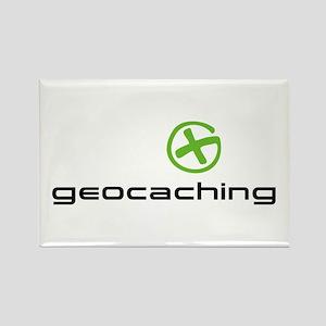 Geocaching Logo green Rectangle Magnet
