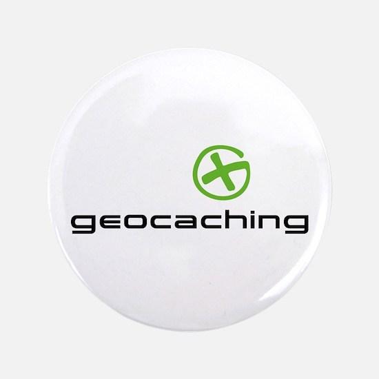 """Geocaching Logo green 3.5"""" Button"""