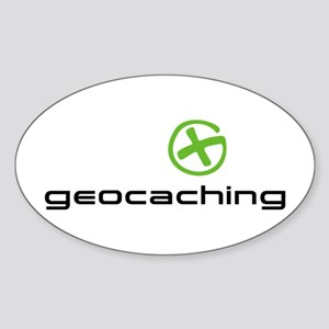 Geocaching Logo green Sticker (Oval)