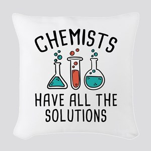 Chemists Woven Throw Pillow