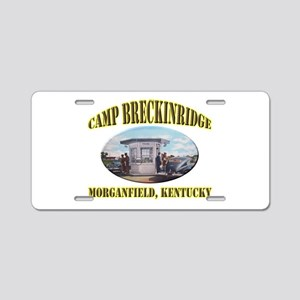 Camp Breckinridge Aluminum License Plate