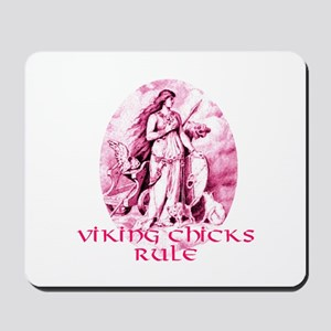 Viking Chicks Rule Mousepad