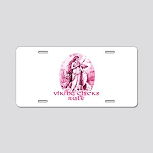 Viking Chicks Rule Aluminum License Plate
