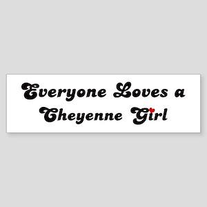 Loves Cheyenne Girl Bumper Sticker
