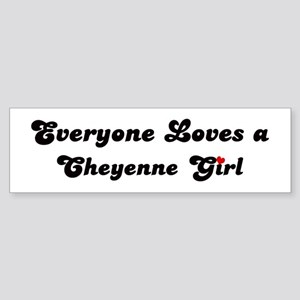 Loves Cheyenne Girl Bumper Sticker