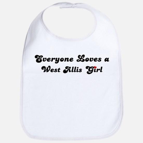 Loves West Allis Girl Bib