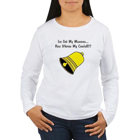 Misbehavin' Cowbell Women's Long Sleeve T-Shirt