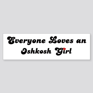 Loves Oshkosh Girl Bumper Sticker