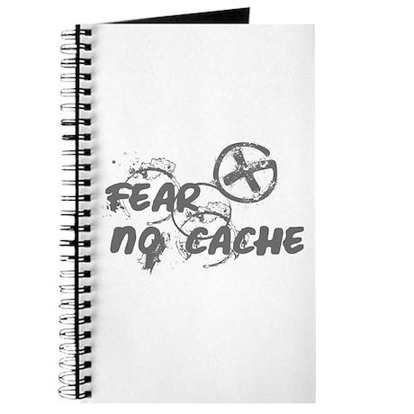 Geocaching NO FEAR gray Grunge Journal