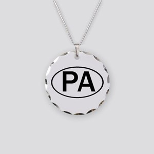 PA OVAL & MORE! Necklace Circle Charm