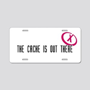 Geocaching - X-CACHE black Aluminum License Plate