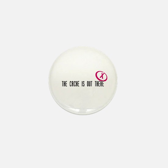 Geocaching - X-CACHE black Mini Button