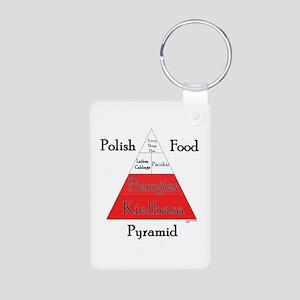 Polish Food Pyramid Aluminum Photo Keychain