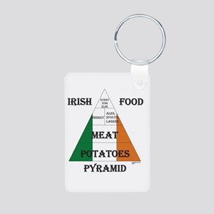 Irish Food Pyramid Aluminum Photo Keychain