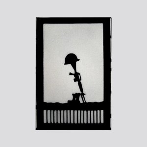 Helmet Rifle Boots Rectangle Magnet (10 pack)