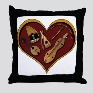 Heart of Music Throw Pillow