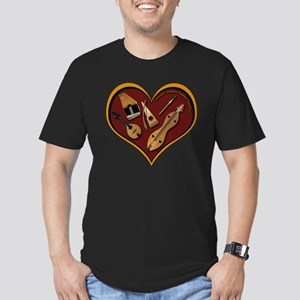 Heart of Music Men's Fitted T-Shirt (dark)