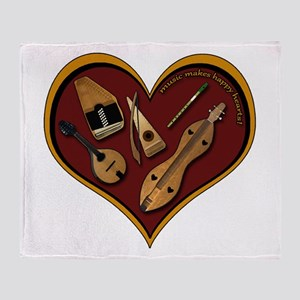 Heart of Music Throw Blanket