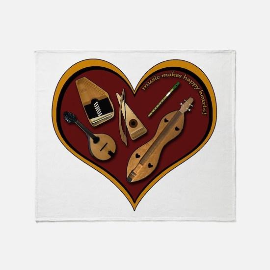 Heart of Music Throw Blanket